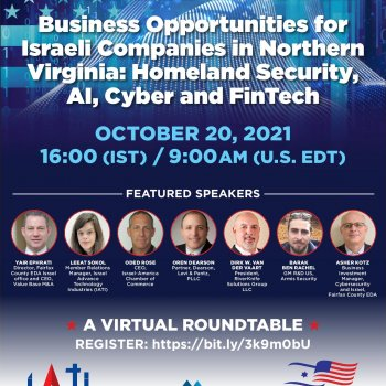 Webinar on:Business Opportunities for Israeli Companies in Northern Virginia
