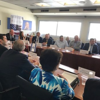 Teva, Chamber and U.S. Embassy host New Jersey Governor Phil Murphy for a Bio-Pharma Round Table